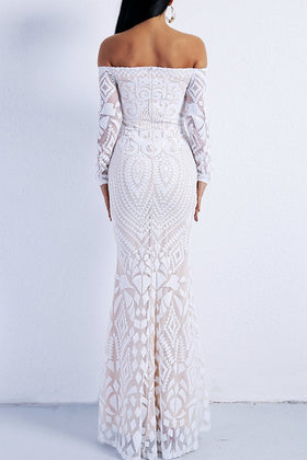 Honey Couture MISHKA White Sequin Formal Gown DressHoney CoutureOne Honey Boutique AfterPay OxiPay ZipPay