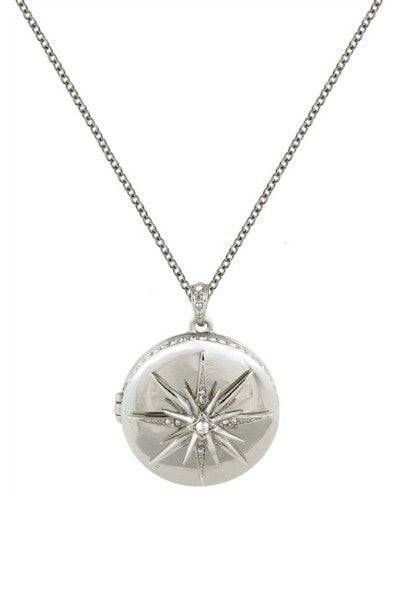 Belle Noel By Kim Kardashian Star Deco Locket Necklace Silver