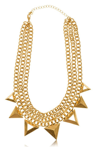 Necklace - Kardashian Kollection Large Gold Triple J Necklace