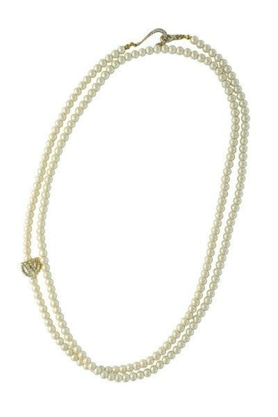 WILDFOX Couture Multi Wrap Pearl Necklace