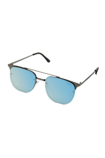 Quay Australia PRIVATE EYES Gunmetal Blue Designer Sunglasses