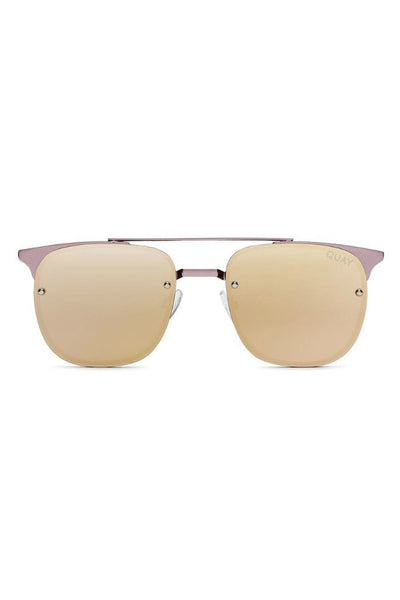 Quay Australia PRIVATE EYES Pink Rose Mirror Designer Sunglasses Australian Online Store One Honey Boutique AfterPay ZipPay