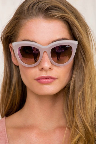 Quay Australia ECLIPSE Pink Oversize Designer Sunglasses QUAY Australia One Honey Boutique AfterPay ZipPay OxiPay Sezzle Free Shipping