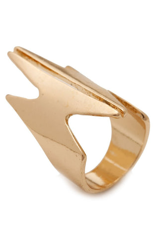 Ring - Kardashian Kollection Gold Angular Ring
