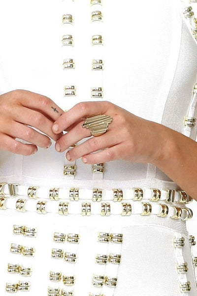 Kardashian Kollection Gold Cluster Cocktail Ring