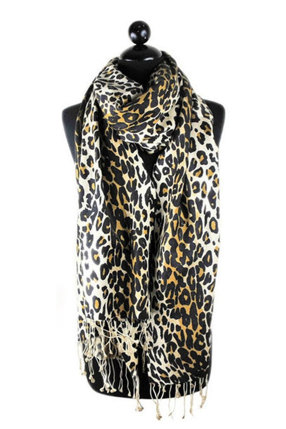 Tolani Silk Pashmina Leopard ScarfTolaniOne Honey Boutique AfterPay OxiPay ZipPay