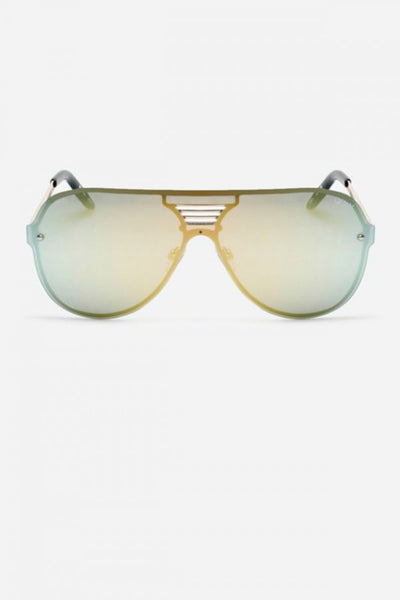 Quay Australia SHOWTIME Gold Mirror Designer Sunglasses