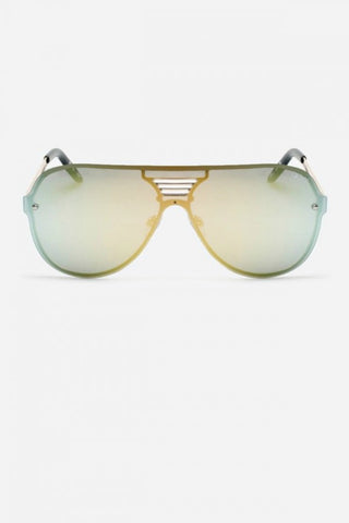 Quay Australia SHOWTIME Gold Mirror Designer Sunglasses QUAY Australia One Honey Boutique AfterPay ZipPay OxiPay Laybuy Sezzle Free Shipping