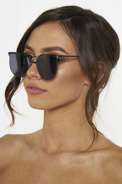 Honey Couture GEORGIE Black on Black Sunglasses