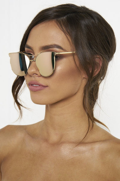 Honey Couture GEORGIE Rose Gold Sunglasses