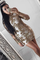 Honey Couture IRENE Rose Gold Long Sleeve Mesh Sequin Midi Dress Australian Online Store One Honey Boutique AfterPay ZipPay