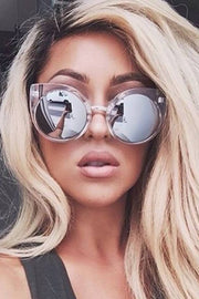 Quay Australia CHINA DOLL Clear & Silver Designer Sunglasses QUAY Australia One Honey Boutique AfterPay ZipPay OxiPay Laybuy Sezzle Free Shipping
