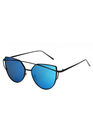 Honey Couture KOURTNEY Black & Blue Sunglasses