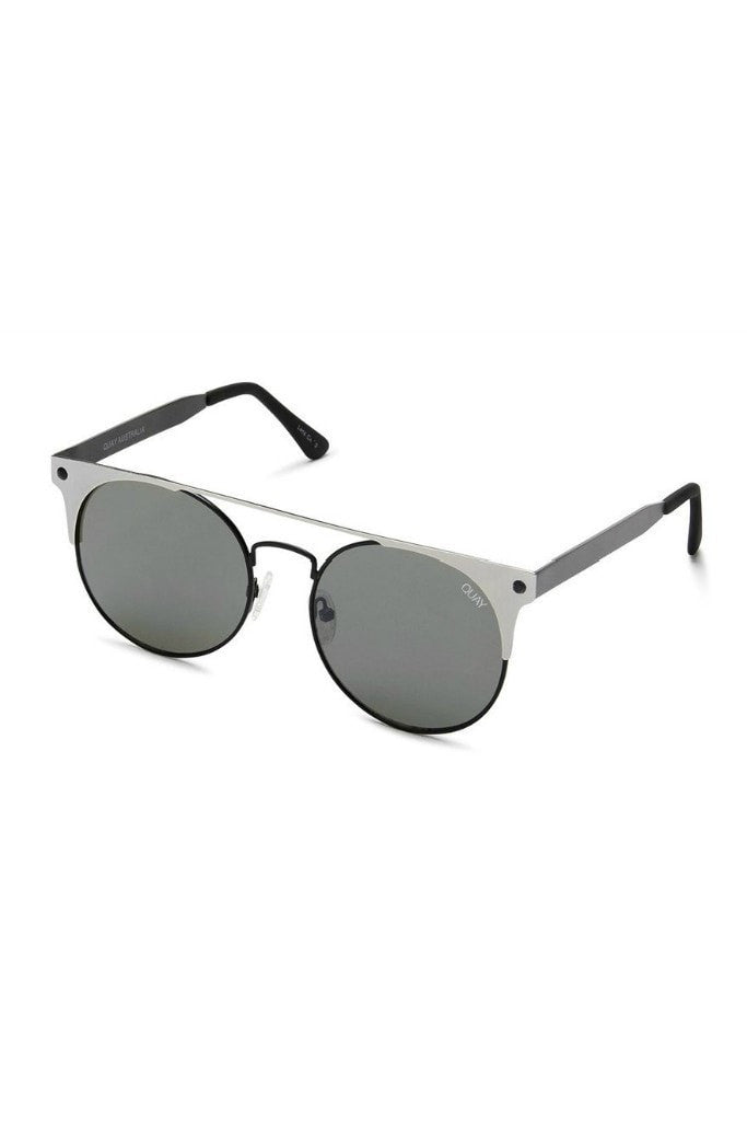 Quay Australia THE IN CROWD Black Silver Designer Sunglasses Australian Online Store One Honey Boutique AfterPay ZipPay