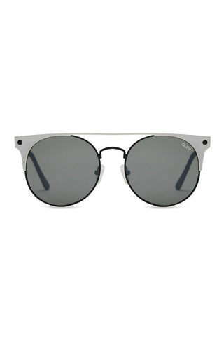 Quay Australia THE IN CROWD Black Silver Designer Sunglasses