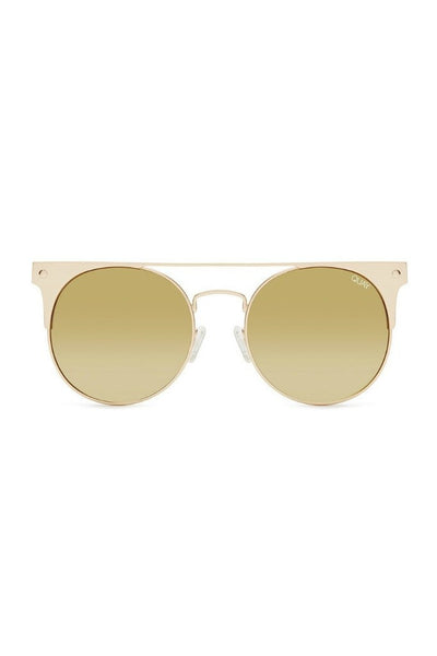 Quay Australia THE IN CROWD Gold Mirror Designer Sunglasses