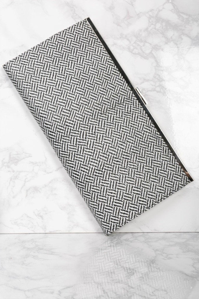 Black and White Oversized Clutch