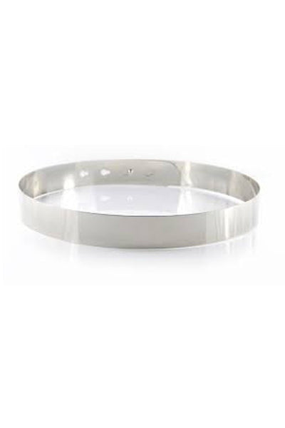 SILVER Thick Metal Bar Belt
