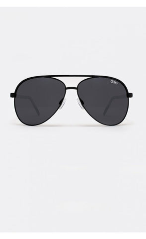 Quay Australia VIVIENNE Black & Aviator Designer Sunglasses Australian Online Store One Honey Boutique AfterPay ZipPay