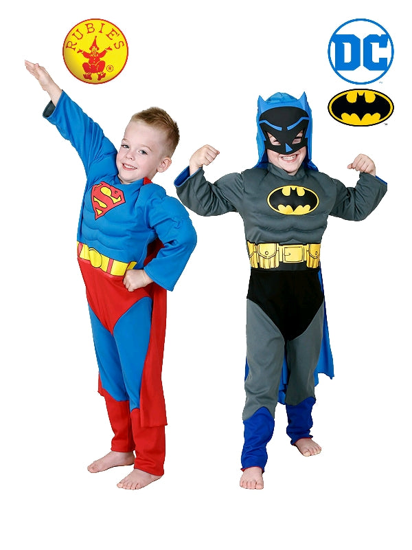 BATMAN VS SUPERMAN REVERSIBLE COSTUME, CHILD - SIZE 4-6