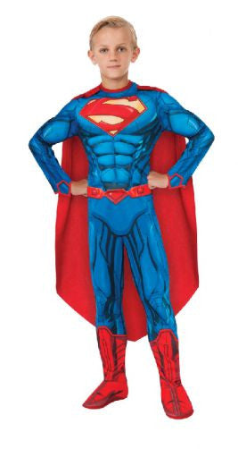 SUPERMAN DELUXE MUSCLE SUIT COSTUME - SIZE 6-8