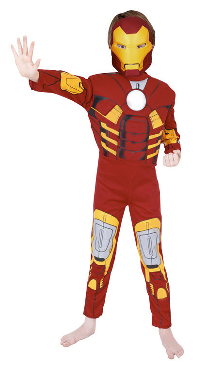 IRON MAN DELUXE COSTUME - SIZE 3-5