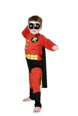 ROBIN DC DELUXE COSTUME - SIZE 3-5