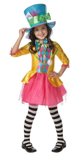 MAD HATTER GIRLS DELUXE COSTUME, CHILD - SIZE 6-8