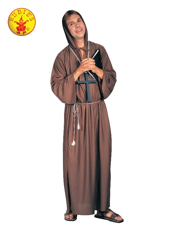 MONK ROBE BROWN, ADULT - SIZE STD