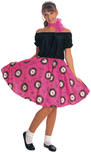 50s ROCK N ROLL GIRL COSTUME, ADULT - SIZE L