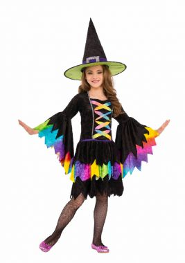 RAINBOW WITCH COSTUME - SIZE M