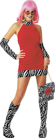 RED HOT MAMA COSTUME, ADULT - SIZE S