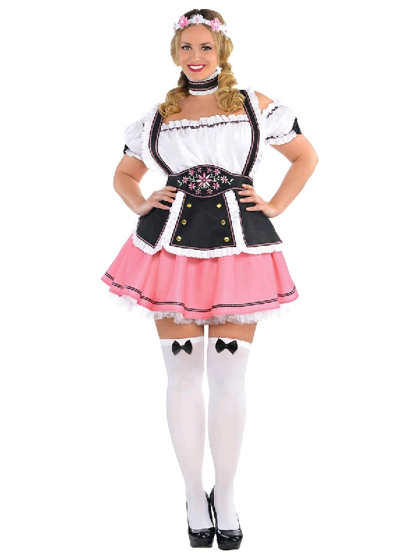 FRAULEIN OKTOBERFEST COSTUME, ADULT - SIZE PLUS