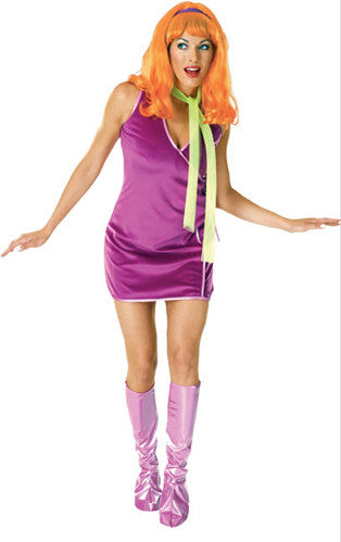 DAPHNE SCOOBY-DOO COSTUME, ADULT - SIZE STD
