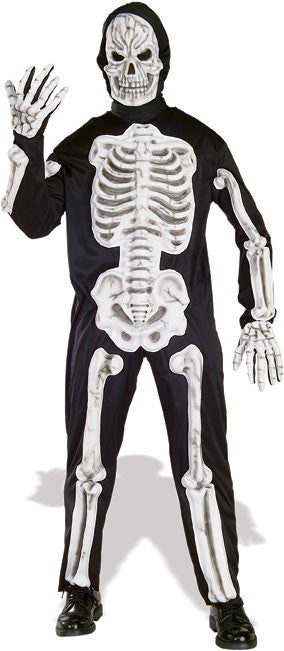 SKELETON EVA COSTUME, ADULT - SIZE STD