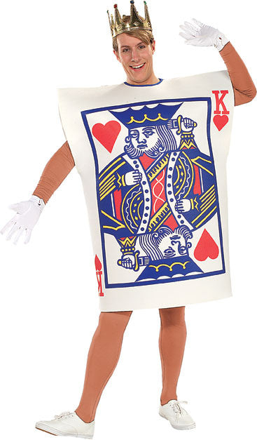 KING OF HEARTS CARD, ADULT - SIZE STD