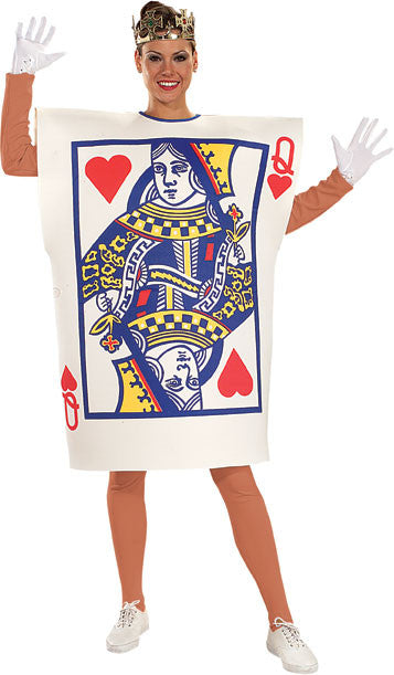 QUEEN OF HEARTS CARD, ADULT - SIZE STD