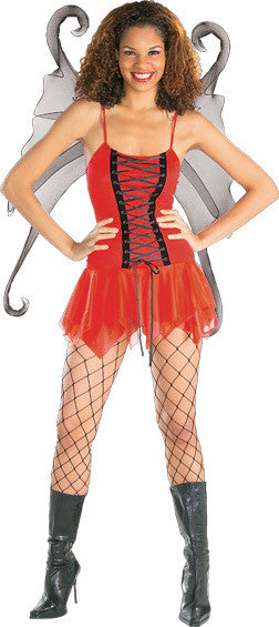 CRIMSON SEXY FAIRY COSTUME, ADULT - SIZE S