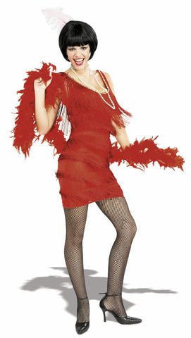 ROARING RED 20S FLAPPER COSTUME, ADULT - SIZE S