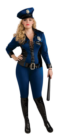 LADY JUSTICE SEXY POLICE LADY COSTUME, ADULT - SIZE PLUS