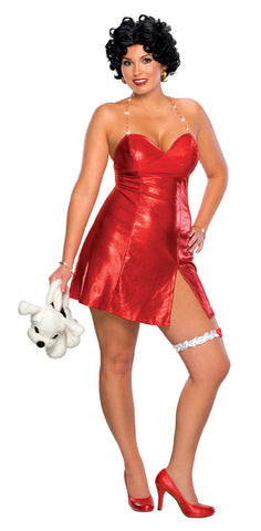 BETTY BOOP SEXY COSTUME, ADULT - SIZE PLUS