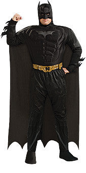 BATMAN MUSCLE CHEST COSTUME, ADULT - PLUS SIZE