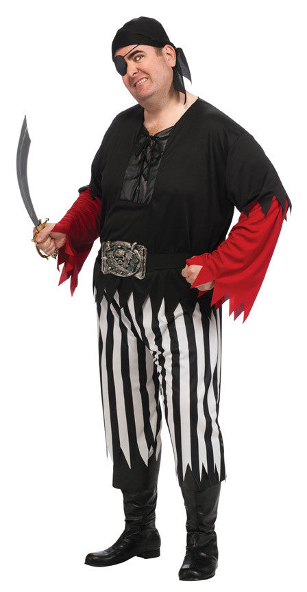 PIRATE GUY ADULT COSTUME - SIZE STD