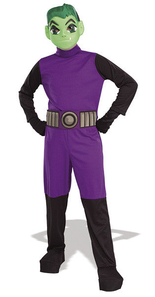 BEAST BOY TEEN TITAN COSTUME, CHILD - SIZE S