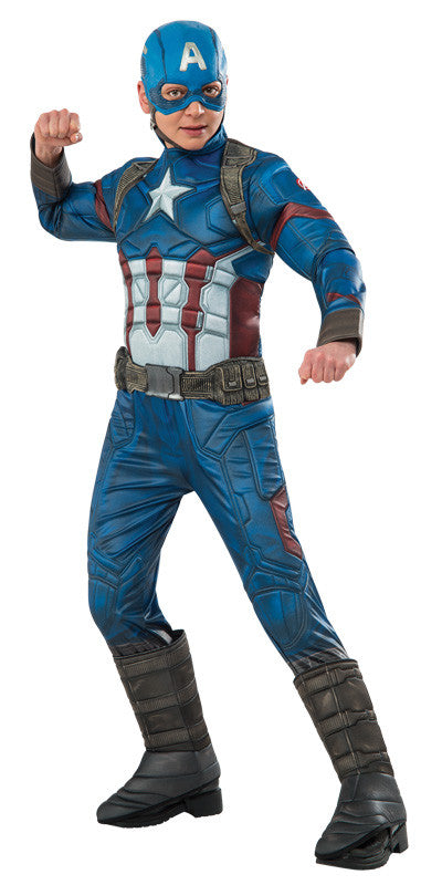 CAPTAIN AMERICA PREMIUM COSTUME, CHILD - SIZE 6-8