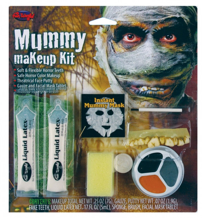HALLOWEEN MUMMY MAKEUP KIT, ADULT