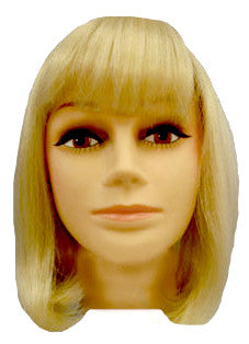 Medium Skinpart Bob w/Fringe - Blonde**