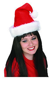 SANTA HAT PLUSH, ADULT SIZE