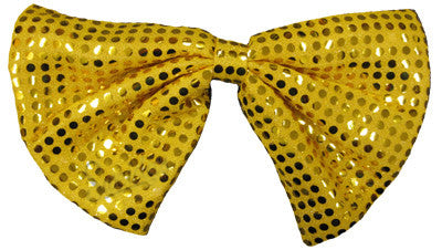 **Sequin Clown Bow Tie - Gold**