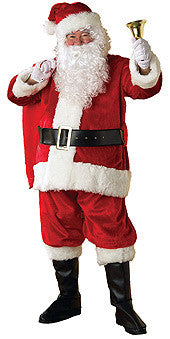 SANTA SUIT PLUSH, ADULT - SIZE STD